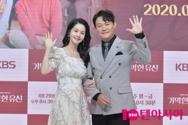 [TEN 포토] '기막힌 유산' 김가연-남성진 '매일 저녁에 만나요~'