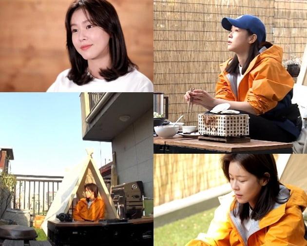 '나 혼자 산다' 경수진이 집 테라스에서 캠핑을 즐겼다. / 사진제공=MBC