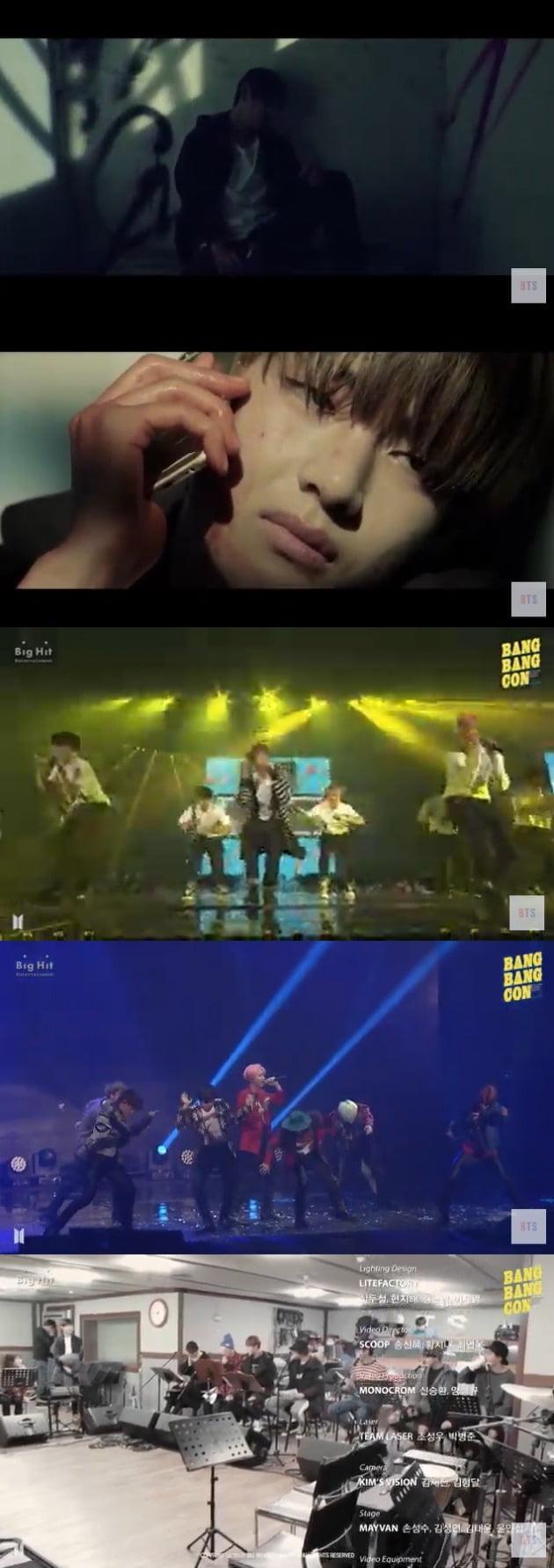 방탄소년단이 언택트 공연 '방방콘'을 공개했다. / 사진=유튜브 '방탄TV' 캡처