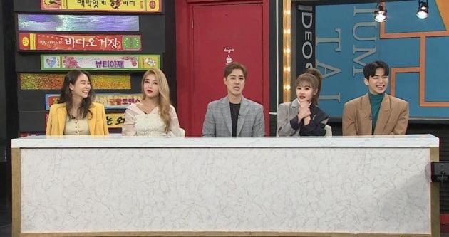 '비디오스타' 21일 방송에는 카라 한승연(왼쪽부터), 원더걸스 유빈, 엠블랙 승호, 티아라 보람, 마이네임 인수가 출연한다. / 사진제공=MBC에브리원