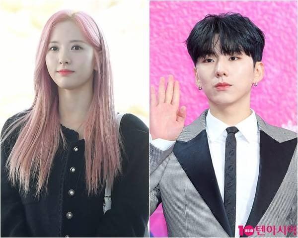 그룹 우주소녀의 보나(왼쪽), 몬스타엑스의 기현./ 사진=텐아시아 DB