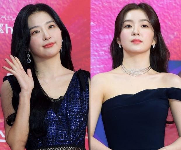 그룹 레드벨벳의 슬기(왼쪽), 아이린 / 사진=텐아시아DB