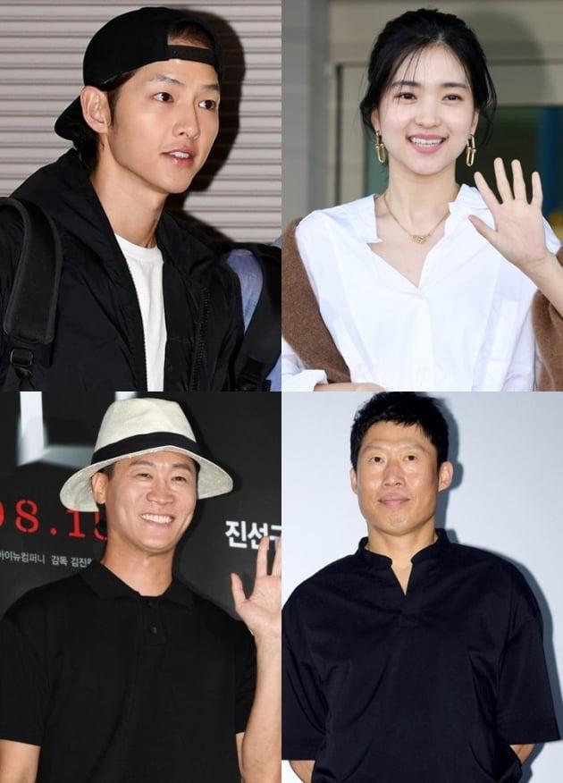 송중기(왼쪽 위부터 시계방향), 김태리, 유해진, 진선규./ 사진=텐아시아DB