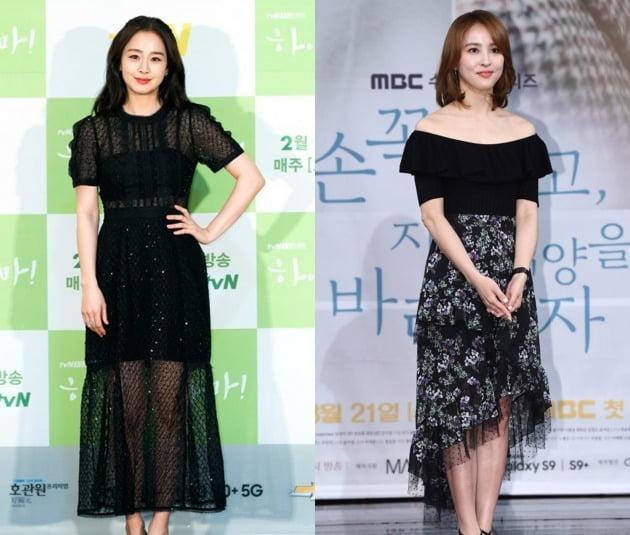 배우 김태희(왼쪽)와 한혜진. /사진제공=tvN, 텐아시아DB
