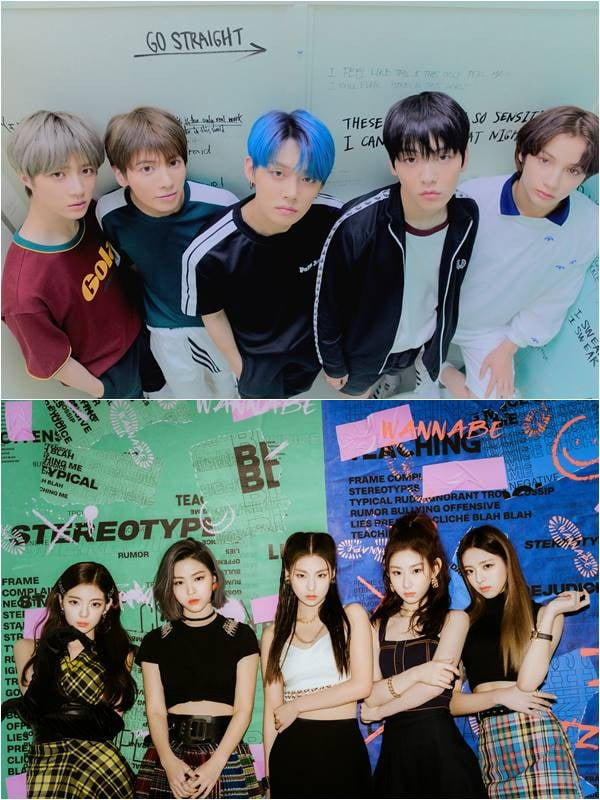 그룹 투모로우바이투게더(위), 있지./ 사진제공=빅히트 엔터테인먼트, JYP 엔터테인먼트