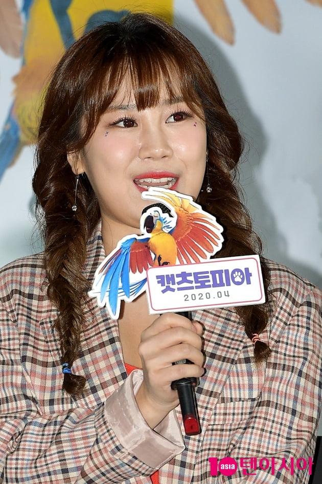[TEN 포토] '캣츠토피아' 박지현, '수다쟁이 앵무새 역 맡았어요'