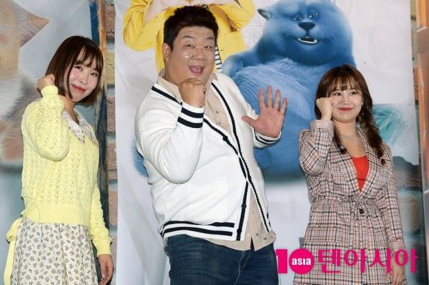 영화 '캣츠토피아' 시사회에 참석한 오나미(왼쪽부터), 유민상, 박지현 / 사진=텐아시아DB