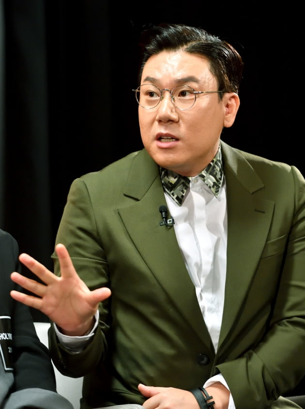 [TEN 포토] 질의응답 갖는 '악인전' 이상민