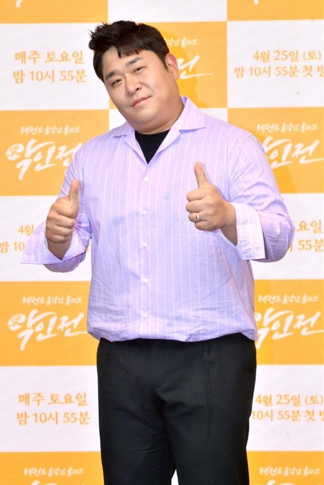 '악인전' 제작발표회에 참석한 문세윤/ 사진=KBS2 제공