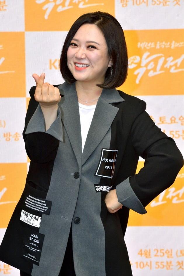 '악인전' 제작발표회에 참석한 김숙/ 사진=KBS2 제공