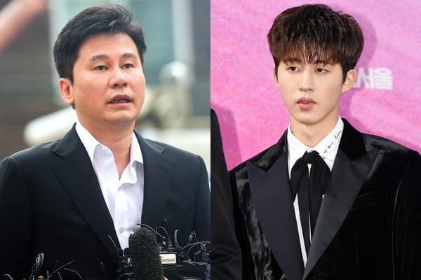 양현석 YG 전 대표(왼쪽)와 가수 비아이/ 사진=텐아시아DB
