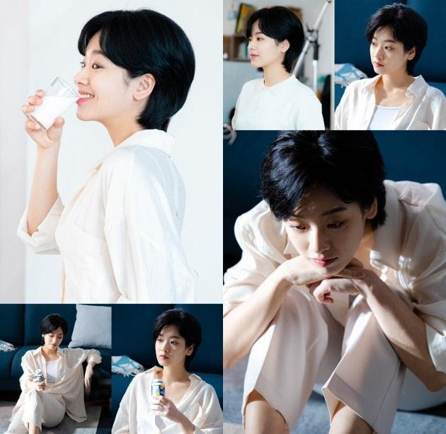 배우 이주영의 광고 비하인드컷. /사진제공=에이스팩토리