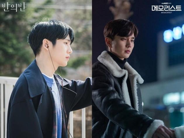 '반의반'(왼쪽)과 '메모리스트' 현장 스틸컷. /사진제공=tvN