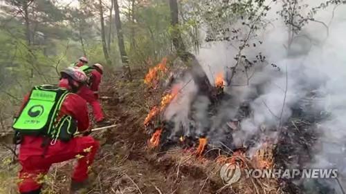 전국 강풍피해 속출…산불 확산·교회 첨탑 붕괴·간판 파손