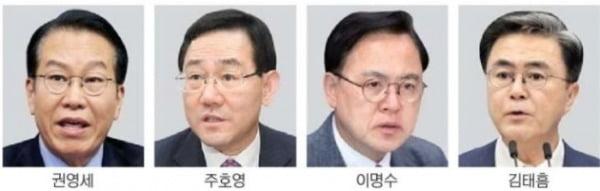 권영세 출마…통합당 원내대표 경선 4파전