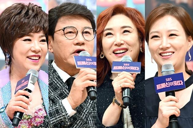 '트롯신이 떴다' 김연자 설운도 주현미 장윤정 '뽕숭아학당' 겹치기 출연 논란 /사진=SBS