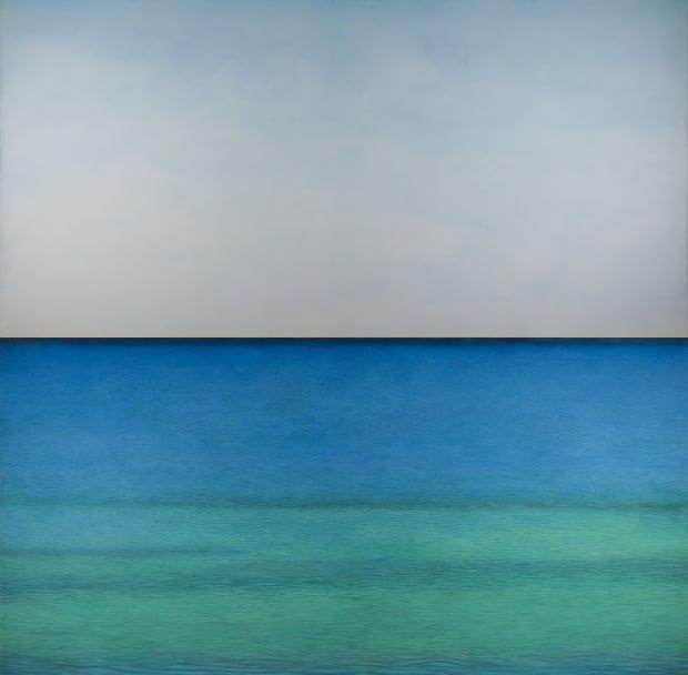 김보희 화백의 'In Between', 2019, Color on canvas, 400x400cm