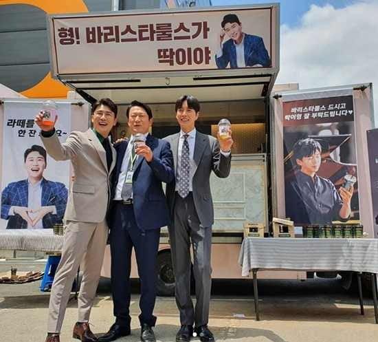 임영웅 영탁 '꼰대라떼' 커피차 선물 / 사진 = 영탁 SNS