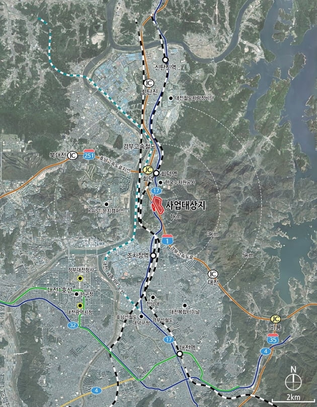 대전시, 대덕구 연축 도시개발구역 지정