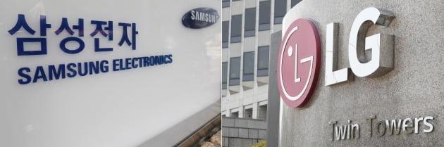 삼성전자 서초사옥(왼쪽)과 여의도 LG전자 사옥. / 사진=연합뉴스