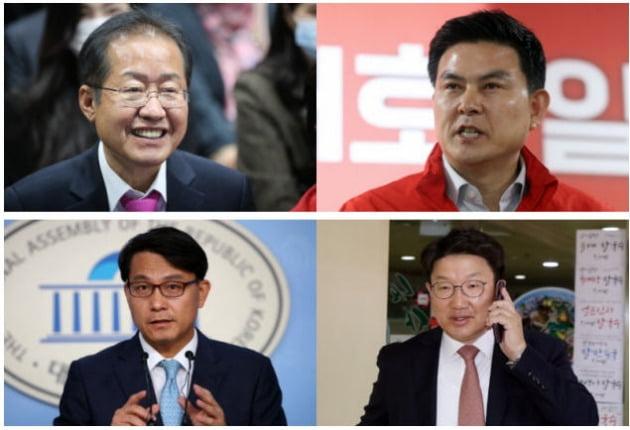 왼쪽부터(시계방향) 홍준표, 김태호, 권성동, 윤상현 당선자  /사진=연합뉴스, 뉴스1