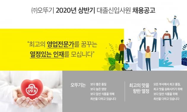 오뚜기가 2020년 상반기 대졸신입사원을 공개채용한다. (사진 = 오뚜기)