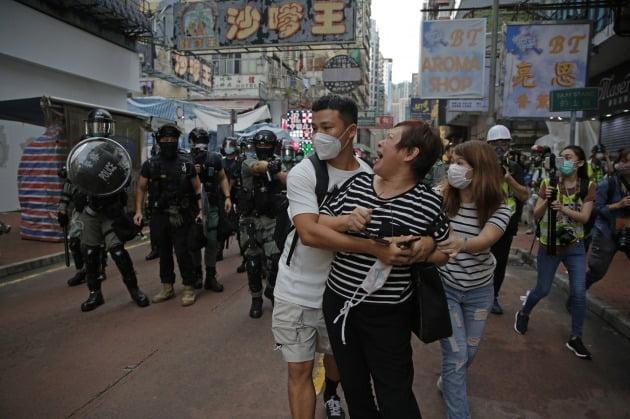 홍콩보안법으려 격화된 홍콩 시위. 연합뉴스