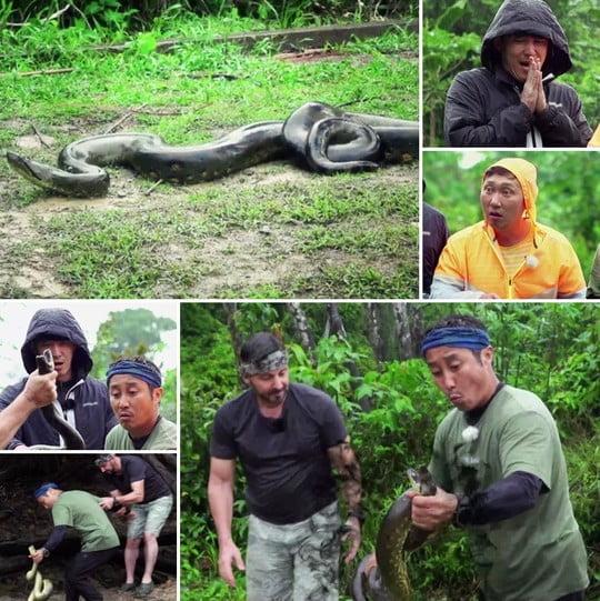 오지GO, 아마존의 상징 아마존 아나콘다 전격 영접 (사진=MBN)