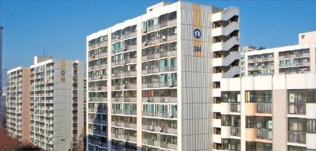 지은 지 20~30년이 된 노후 아파트 밀집 지역인 서울 노원구는 올해 서울 집값이 내리는 와중에도 되레 값이 올랐다. 노원구의 한 주공아파트 전경. 한경DB