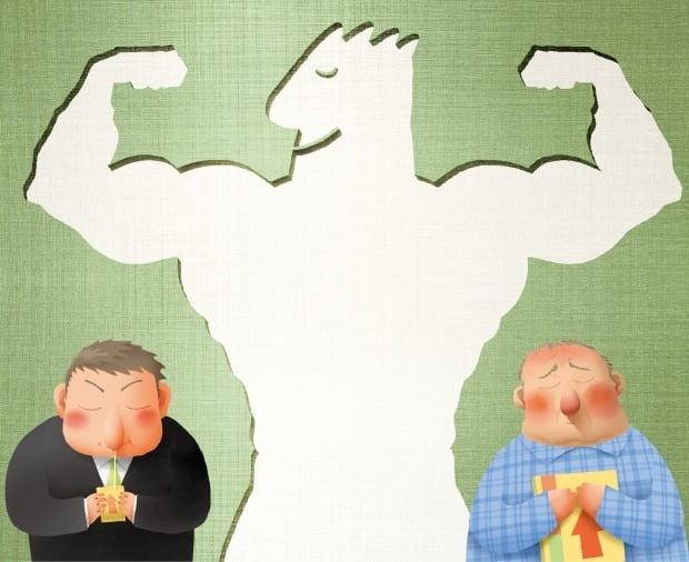 1분기 홈쇼핑 영업이익이 건강기능식품의 수혜에 힘입어 증가했다. (일러스트=추덕영 기자 choo@hankyung.com)