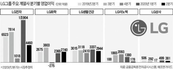 """위기에 빛난 LG그룹주…""""하반기 성장도 기대"""""""