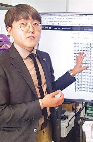 김선중 호모미미쿠스 대표가 양자컴퓨터 작동 원리를 설명하고 있다.