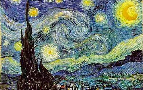빈센트 반 고흐의 '별이 빛나는 밤'    빈센트반고흐갤러리 제공