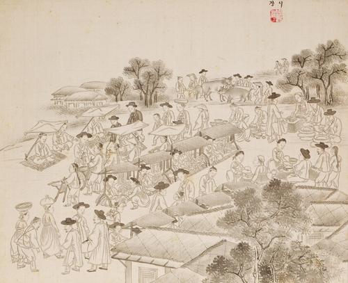 수수께끼 풍속화가 기산 김준근의 그림을 만나다