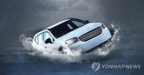 시흥 과림저수지에 차량 빠져 2명 사망