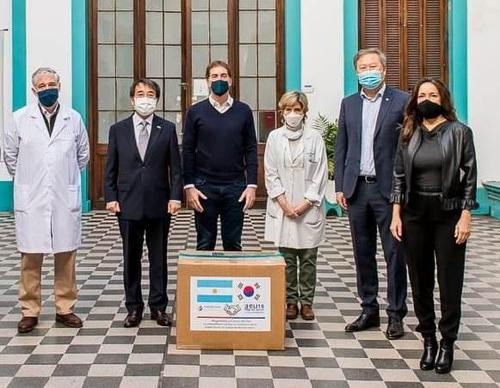 아르헨 한인회, 부에노스아이레스시에 마스크 7만개 기증