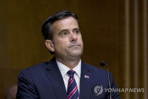 미 정보총괄 DNI 국장에 트럼프 '충성파'…인준안 상원 통과