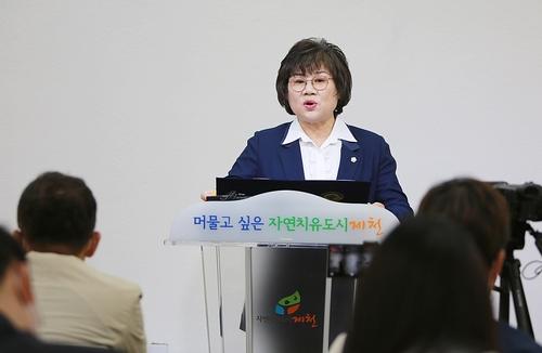 """주영숙 제천시의원 """"당원권 2년 정지는 가혹한 연좌제"""""""