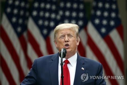 """[3보] 트럼프 """"중국 약속 어겨…홍콩 특별대우 제거절차 시작"""""""
