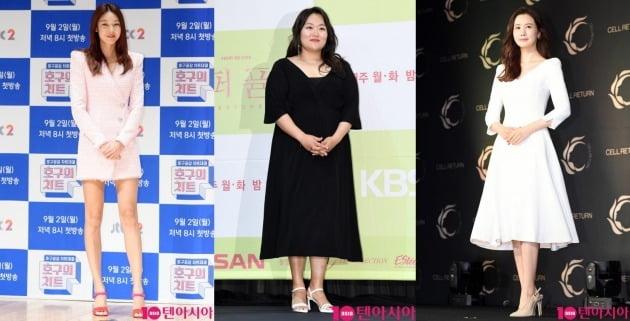 모델 한혜진(왼쪽부터), 배우 하재숙, 이다해. /텐아시아DB