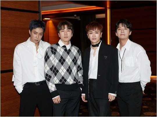그룹 젝스키스의 은지원(왼쪽부터), 장수원, 김재덕, 이재진./ 사진제공=YG엔터테인먼트