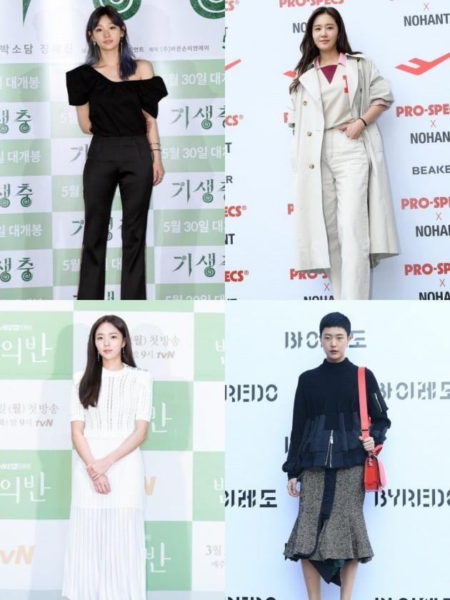 배우 박소담(왼쪽 위부터 시계방향), 그룹 소녀시대의 유리, 모델 정소현, 배우 채수빈. /사진제공=텐아시아DB, tvN
