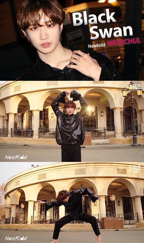 그룹 뉴키드 우철의 그룹 방탄소년단의 정규 4집 수록곡 '블랙 스완( Black Swan)' 커버 영상. /사진제공=제이플로 엔터테인먼트