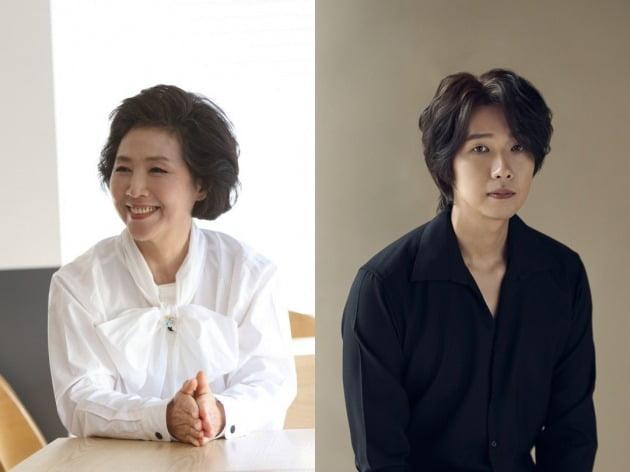 배우 고두심(왼쪽), 지현우 / 사진제공=명필름