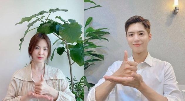 배우 송혜교, 박보검./사진=송혜교, 블러썸엔터테인먼트 인스타그램