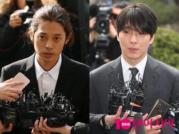 집단 성폭행 혐의 등을 받고 있는 가수 정준영(왼쪽), 최종훈 / 사진=텐아시아DB