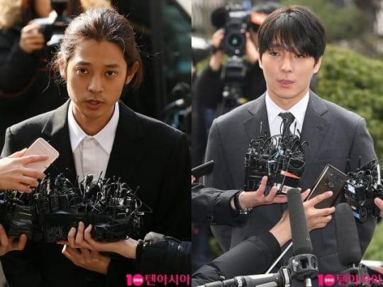 가수 정준영(왼쪽)과 최종훈/ 사진=텐아시아DB