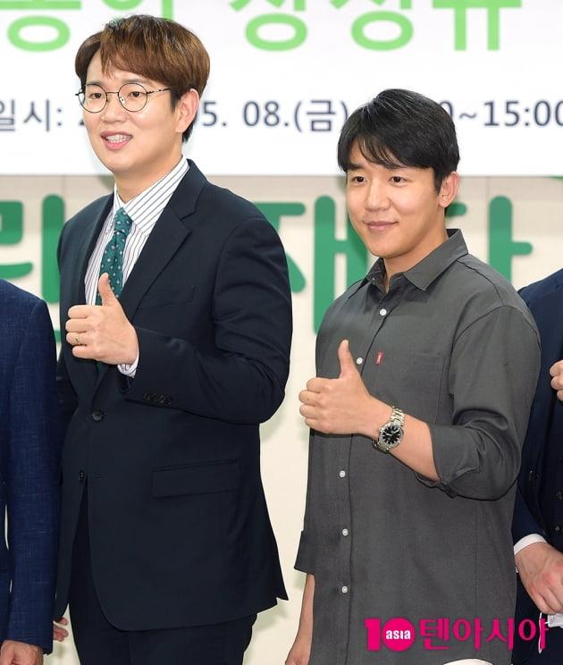 [TEN 포토] 장성규 '멋진 매니저 친구와 함께 선행'