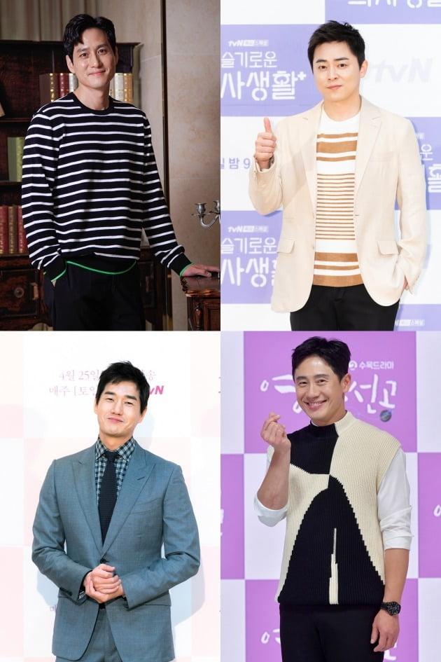 배우 박해준(왼쪽 위부터 시계방향), 조정석, 신하균, 유지태./사진제공=JTBC, tvN, KBS