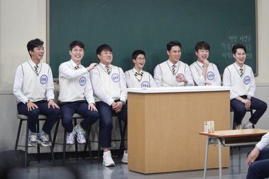 '아는 형님'에 출연한 미스터트롯 TOP7./사진제공=JTBC